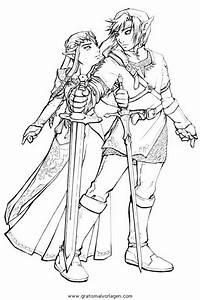 Zelda, Link, 6, Gratis, Malvorlage, In, Comic, U0026, Trickfilmfiguren
