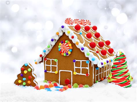 Wallpaper Gingerbread House by Picture Gingerbread House New Year Tree Food Cookies