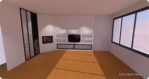 niches murales design dans le salon eco logis travaux With amenagement exterieur maison moderne 7 plans agencement et 3d pour construction maison atdeco