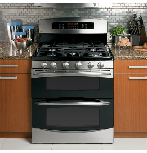 gas range ge profile oven electric double standing convection general stove combo microwave freestanding appliances stainless ranges appliance burners self