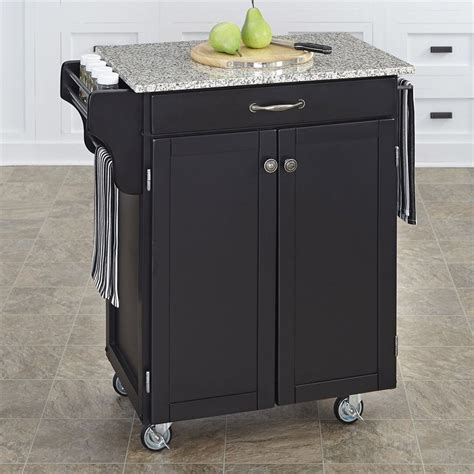 kitchen islands lowes shop home styles 32 5 in l x 18 75 in w x 35 5 in h black