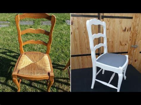 refaire une chaise moderniser une chaise de type louis xv en chêne et paille