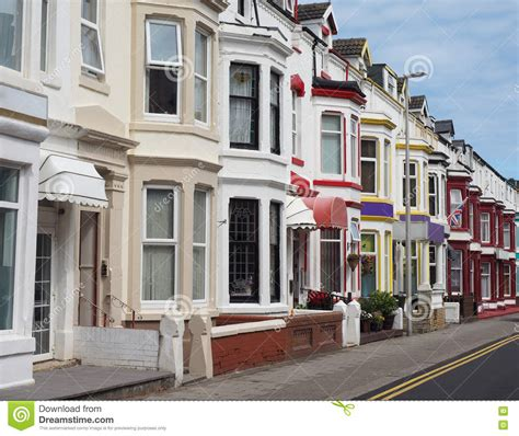 Traditional English Terraced House Stock Photo  Image Of