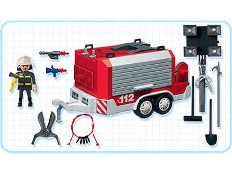 chambre contre service playmobil pompier électrogène remorque