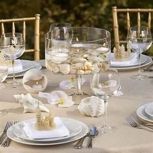 Sea inspired table setting and ideas for your beach themed for Beach wedding table decorations