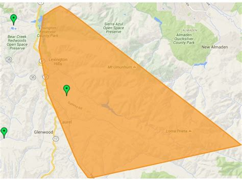 los gatos power outage wednesday hits  customers
