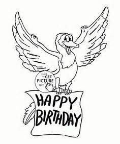 happy birthday letters card coloring page for 895 | ffc9aa6628d17d28342f493a26ec354b