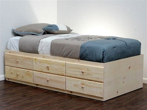 Twin Xl Captains Bed