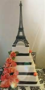 eiffel tower cake stand theme quinceanera cake