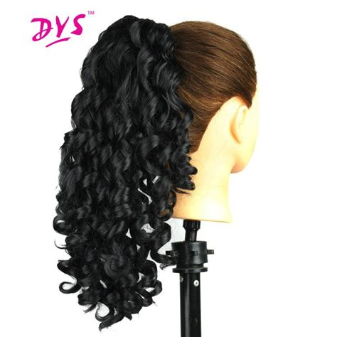 Deyngs 20inch Short Bouncy Curly Claw In Ponytail Hair