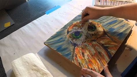 tips  tricks  drawing  owl  cray pas oil