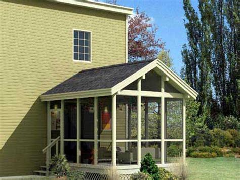 porch building plans cottage floor plans with screened porch