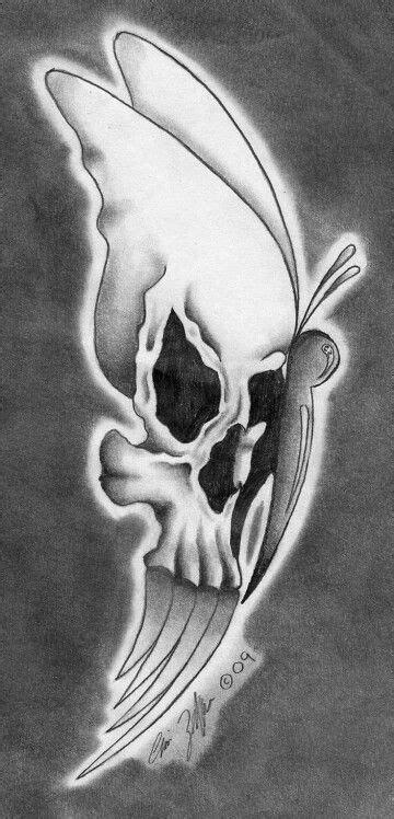 Cool tattoo   Skull art, Skull, Butterfly drawing