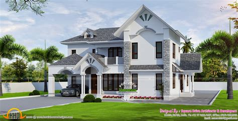 european style house beautiful european style modern house kerala home design