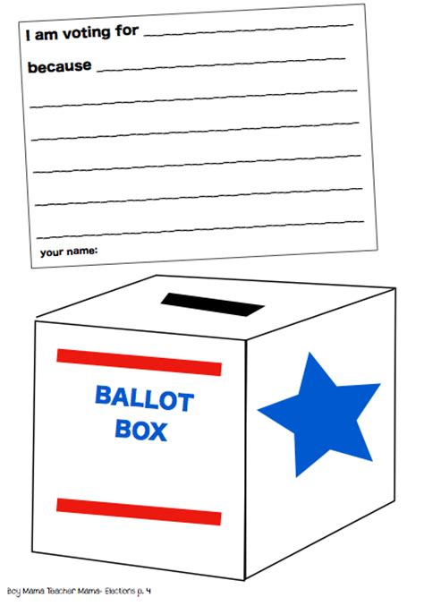 voting template teaching children about the elections