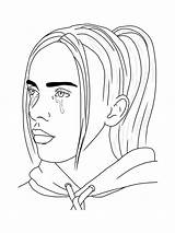 Billie Eilish Coloring Pages Printable Mycoloring Colors sketch template