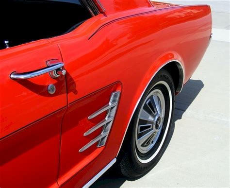 signal flare red  ford mustang hardtop