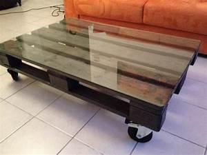 Table Basse Sur Roulette : renover une table basse en verre maison et meuble de maison ~ Melissatoandfro.com Idées de Décoration