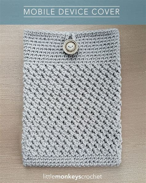 free mobile cover mobile device cover free crochet pattern by little