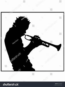 Trumpet Player Silhouette Stock Vector 4350097 - Shutterstock