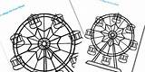 Wheel Ferris Coloring Template Colouring Designlooter Fine Seaside 82kb 315px sketch template