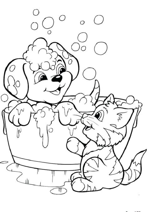 puppy kitten coloring pages coloring pages  kids