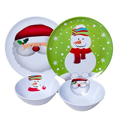 melamine christmas holiday plates dinnerware sets dinner plate children childrens amazon called