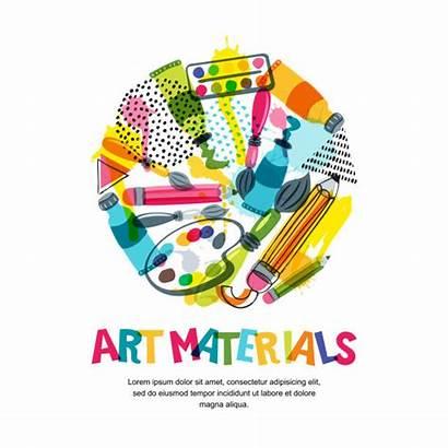 Craft Materials Vector Illustrations Crafts Clip Creativity