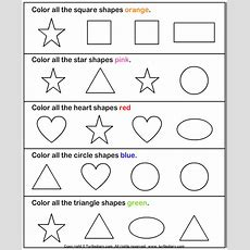 Learning Colors And Shapes Worksheet  Turtle Diary