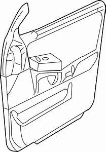 Ford Expedition Door Interior Trim Panel  Front   Ebony
