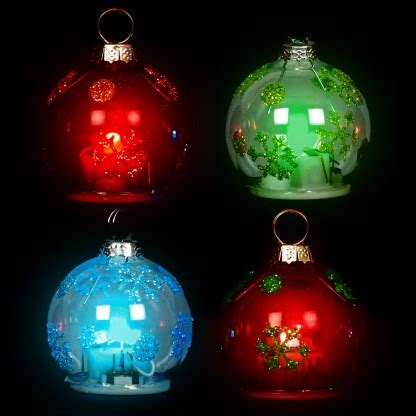 led bauble place card holder 4 pack