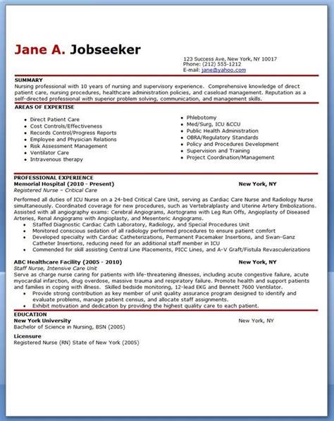 Professional Nursing Resume Template by Experienced Resume Sle Resume Exles