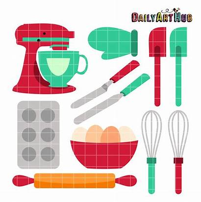 Baking Tools Clip Cooking Bake Clipart Equipment