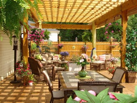Patio Arrangements by Beautiful Pergola For Distinct Look Small Patio Design Abpho