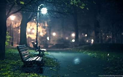 Cool Pc Wallpapers Night Park Bench 2560