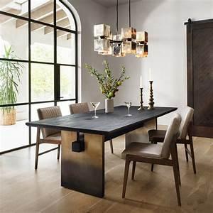 Brennan, Black, Oak, Dining, Table