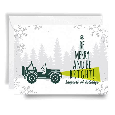 christmas jeep card all things jeep jeep holiday card be merry be bright
