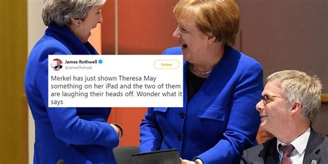 theresa   angela merkel laughing    instant meme indy