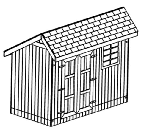 Saltbox Shed Plans 6x8 by Custom Saltbox Shed Plans 6 X 12 Shed Detailed Building