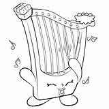 Shopkins Harp Coloring Pages Season Musical Instrument Shopkin Printable Irish Drawing Colouring Hillary Instruments Info Template Sheets Colour Tsum Cute sketch template