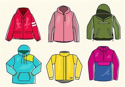 Vector Jacket Sketch Illustration Colorful Winbreaker Clipart