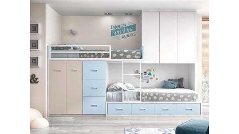 lit superposé avec lit superposé avec rangement et personnalisable glicerio