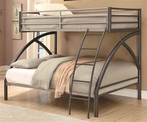 contemporary twin over full metal bunk bed
