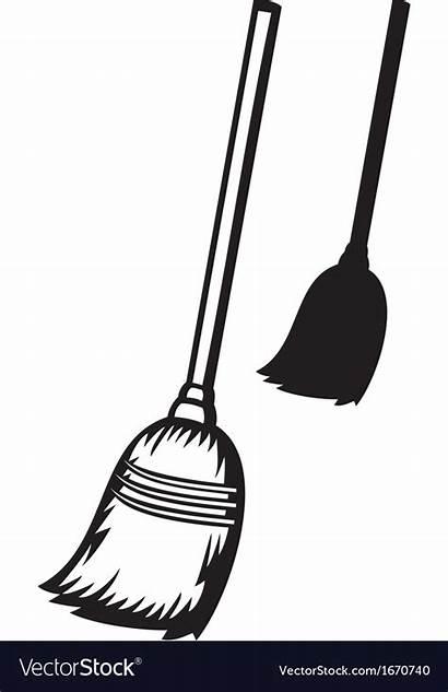 Broom Clipart Coloring Cliparts