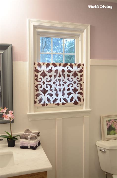 bathroom window privacy ideas how to a pretty diy window privacy screen thrift