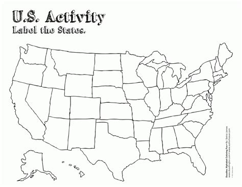 coloring page map  usa az coloring pages