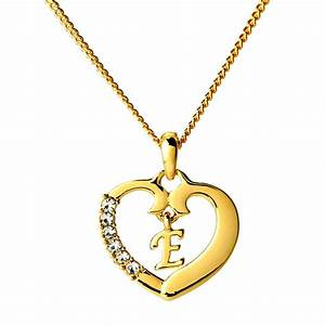 initial necklace letter e 18k yellow gold plated With the letter a necklace