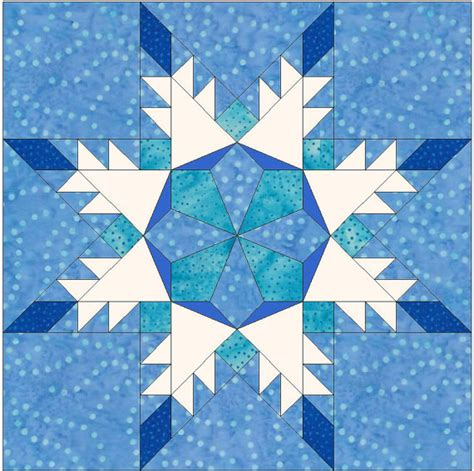 snowflake star paper piece template quilting block pattern