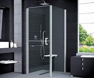 Dusche 100 X 100 : duschabtrennung rollstuhlgerecht 100 x 100 x 195 cm duschabtrennung dusche t r mit seitenwand ~ Bigdaddyawards.com Haus und Dekorationen