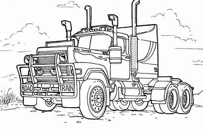 Coloring Truck Trucks Pages